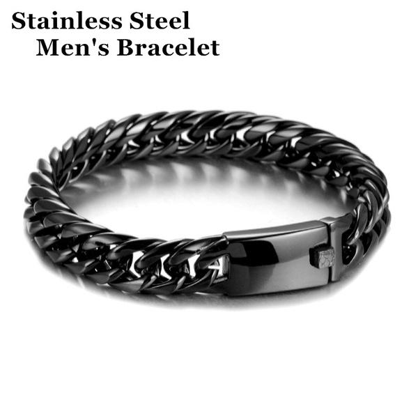 Heavy, Steel, stainlesssteelbraceletchain, Jewelry