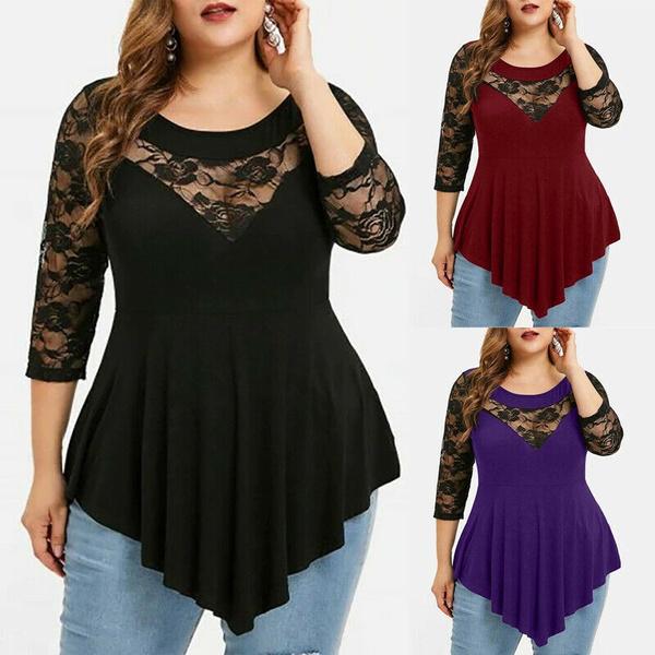 blouse, Plus Size, Halterneck Top, Lace