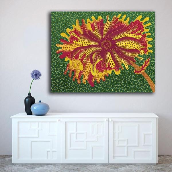 Flowers, printpainting, Home, canvaspainting