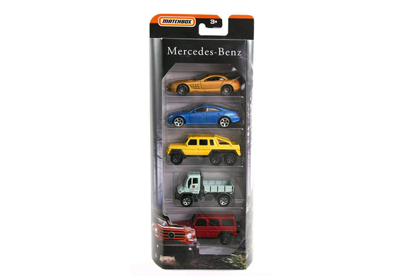 Matchbox Mercedes-Benz 5 Pack with  G Wagon McLaren Slr, Unimog