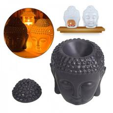 Head, Ceramic, Home & Living, buddhaheadoilburner