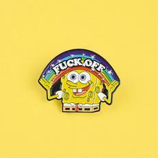 Clothing & Accessories, rainbowspongebob, Pins, rainbow