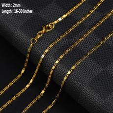 18 k, Chain Necklace, Fashion, Jewelry