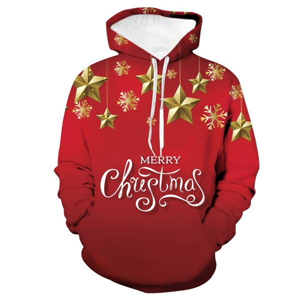 Couple Hoodies, Fashion, Star, christmasstyle
