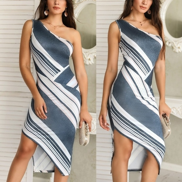 dressforwomen, Fashion, one-shoulder, Evening Dress