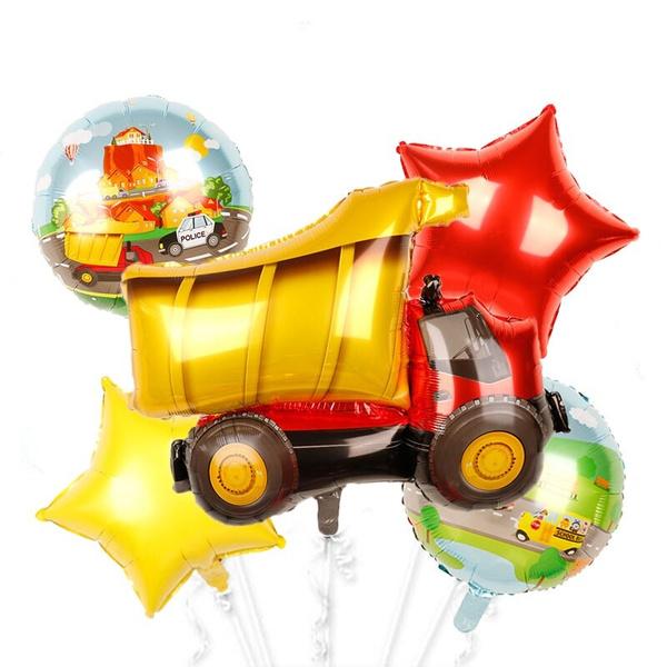 party, birthdayballoon, firecarballoon, Balloon