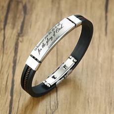 Jewelry, Silicone, bibleverse, Bracelet