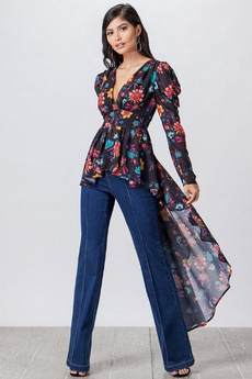 blouse, Floral, flyingtomato, Sleeve