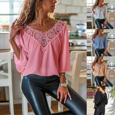 Spring Fashion, vnecktshirt, Tops & Blouses, Lace