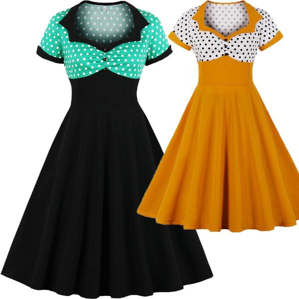 pin up, Swing dress, Plus Size, tunic