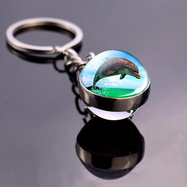 dolphinsstuff, ballkeychain, Key Chain, oceananimal