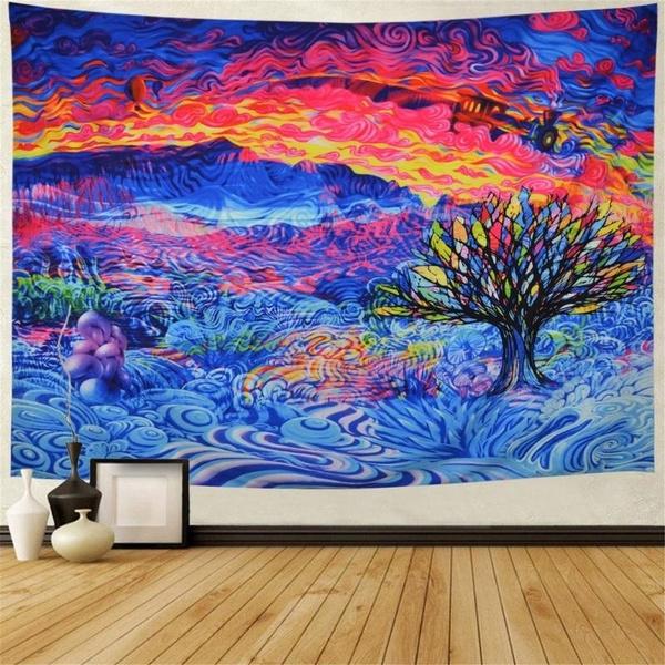 Mountain, art, Colorful, treeoflifetapestry