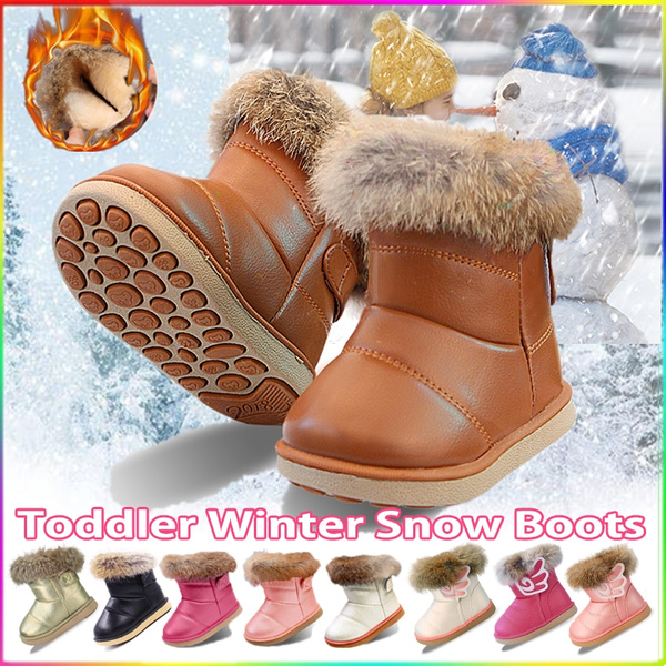 Toddler Girl Warm Winter Snow Boots Plush Inner Outdoor Boots Waterproof Snow  Shoes with Wings Flat Easy on for Toddlers Little Girls | Wish