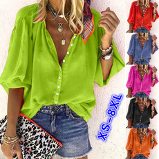 Summer, Plus Size, chiffon, Women Blouse