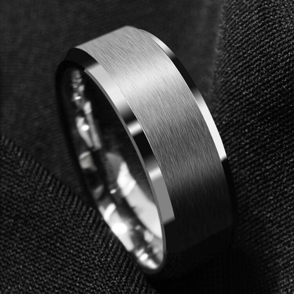 Steel, 8MM, wedding ring, mensfashionjewelry
