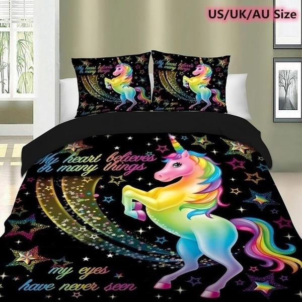 beddingkingsize, rainbow, unicorn, King