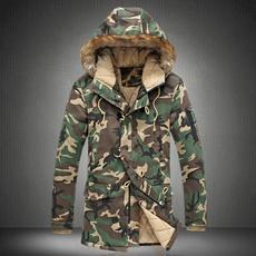 men coat, hooded, fur, Winter