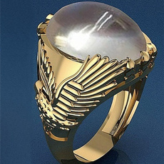 Eagles, Jewelry, golden, Engagement Ring