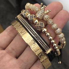 Charm Bracelet, Bracelet, crown, Men