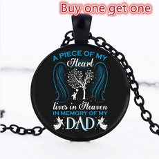 dad, Heart, Chain Necklace, Jewelry