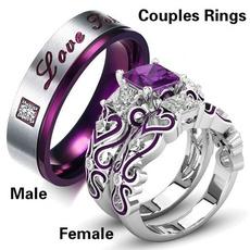 stainlesssteeltitaniumring, Steel, hisandhersring, wedding ring