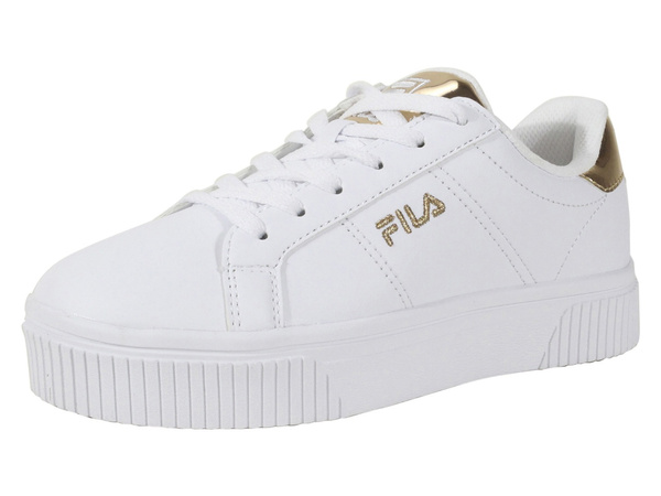 fila white and gold sneakers