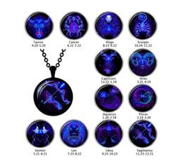 cabochon, punk necklace, Necklace, Glass