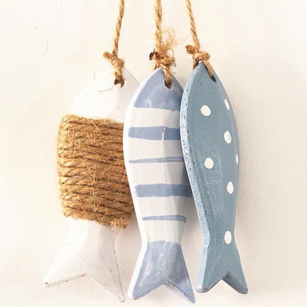 Decor, nauticaltheme, 点点三小鱼串, Ornament