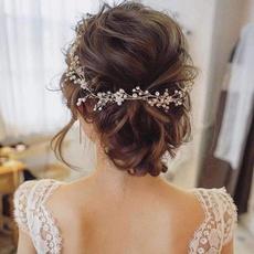 bridalhairaccessorie, bridalhairaccessoriesforweddingpearlheadband, Hair Clip, gold