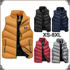 Vest, Plus Size, Winter, Men
