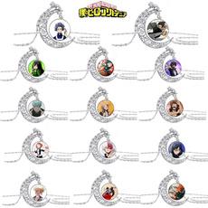 timegemglassnecklace, Jewelry, silvermoonpendant, unisex