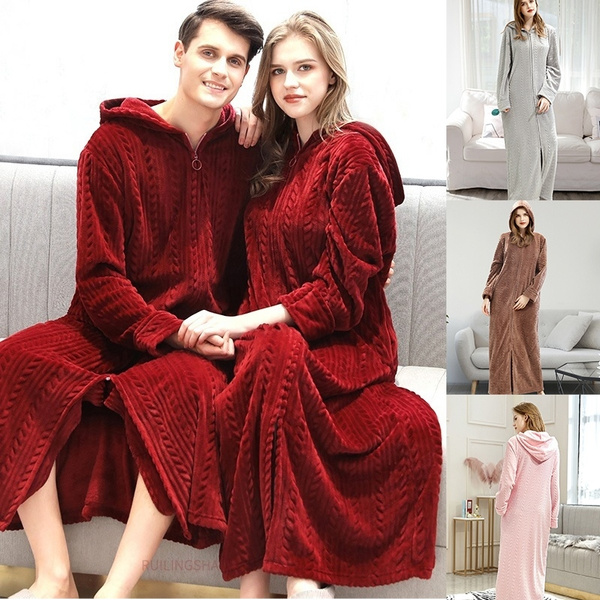 gowns, Fleece, Winter, plushrobesforwomen