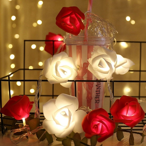 Valentines, Holiday, Flowers, led