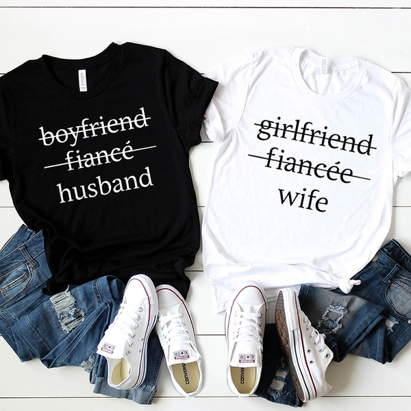 husbandshirt, Shirt, letter print, unisextee
