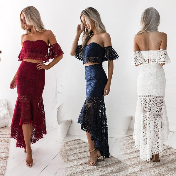 sexy, Two-Piece Suits, Lace, tubedres