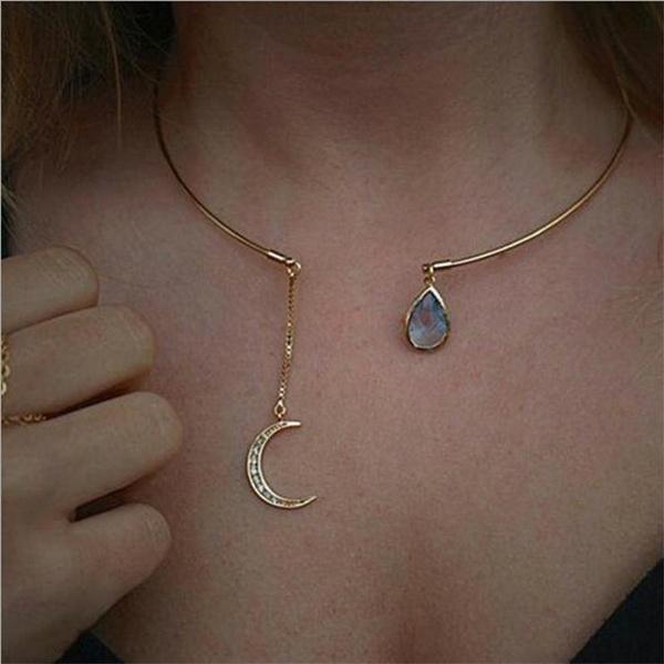 Necks, Jewelry, acollarforahorse, Waterdrop