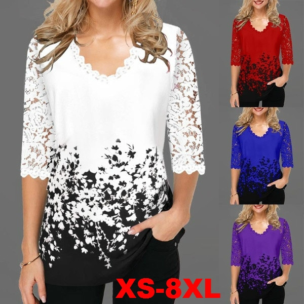 lacepatchwork, Lace, Women Blouse, Shirt