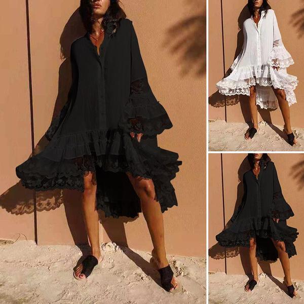 irregularityhemdres, dressforwomen, vestidoscasuale, Plus Size