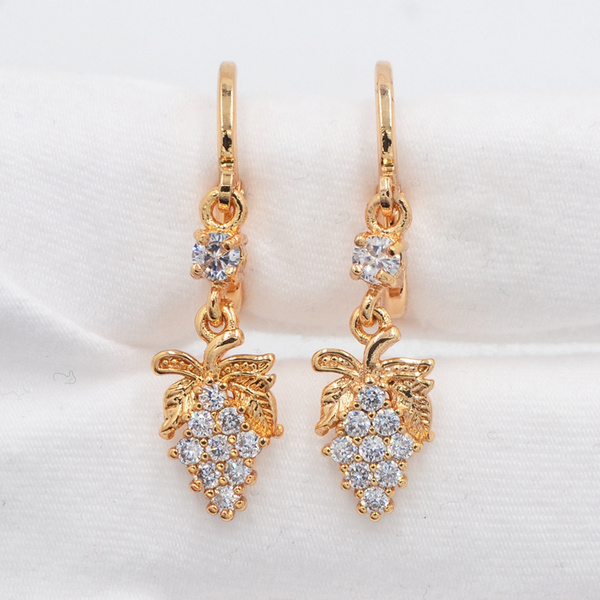 yellow gold, Dangle Earring, Jewelry, gold