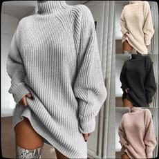 Plus Size, sweater dress, Winter, Sleeve