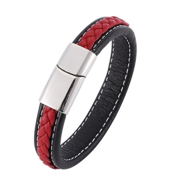 Charm Bracelet, Steel, bikerbracelet, fashionablebracelet