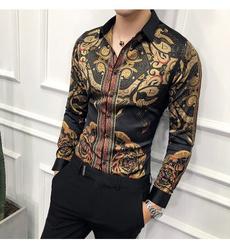 Fashion, gold, Long Sleeve, Tuxedos