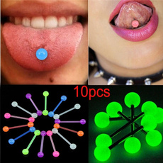 rainbow, Jewelry, tonguedecoration, tonguepin