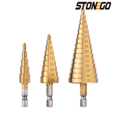 stepdrill, Steel, stepbitset, holecutter