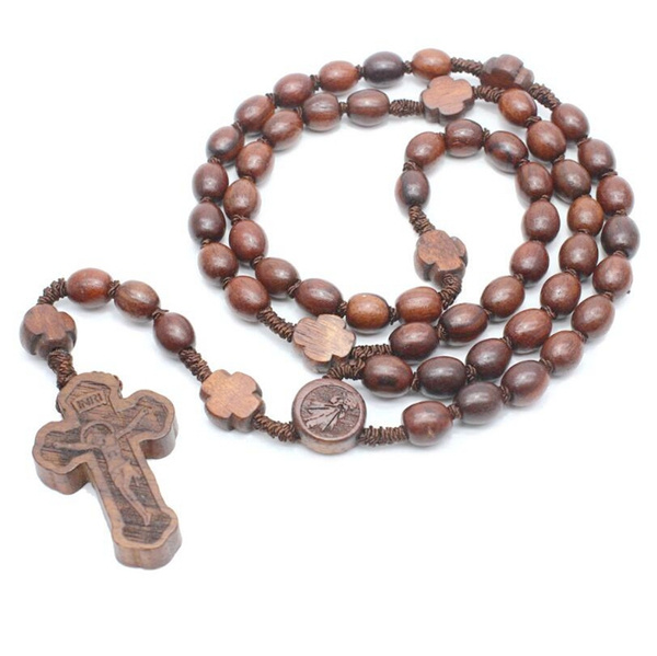 Bead, woodennecklace, braidednecklace, Christian