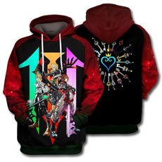 3D hoodies, Fashion, Heart, unisex