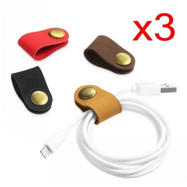earphonewinder, Earphone, cablestrap, leather