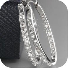 Sterling, bigroundearring, Gemstone Earrings, gold