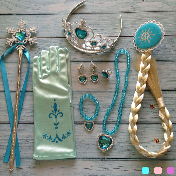 wig, princessaccessoryset, wand, crown
