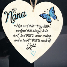 Heart, Christmas, Gifts, nana